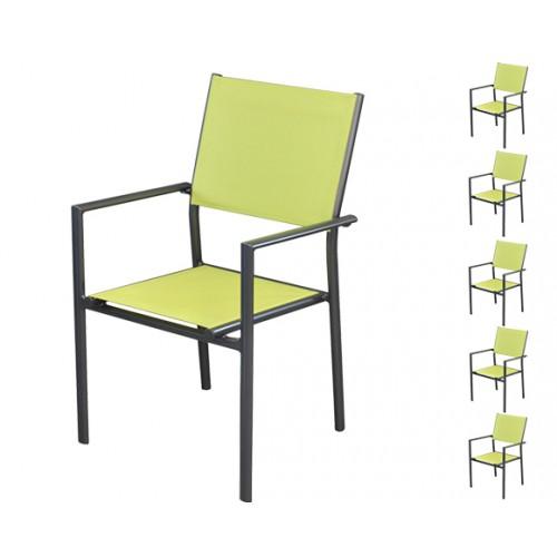 achat chaise verte lime carree pour un jardin