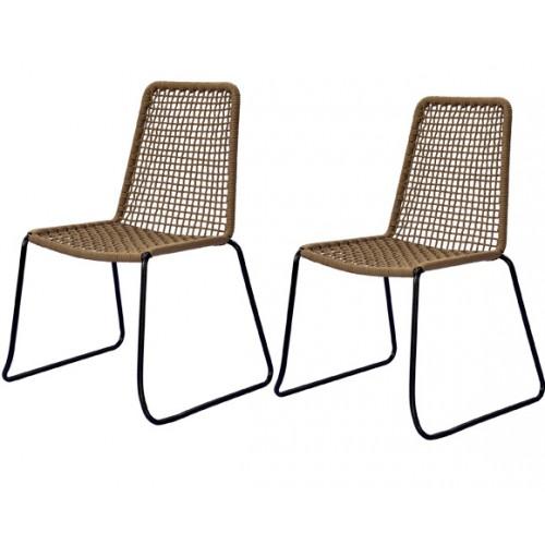 achat chaises pas cher en corde marron