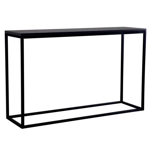 achat console bois noir et pieds metal