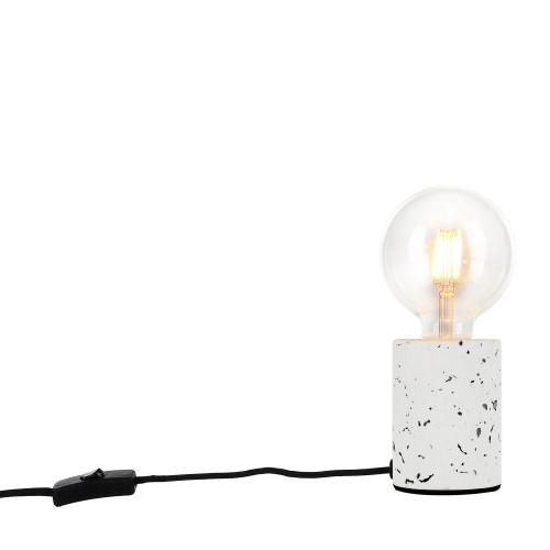 achat de lampe a poser blanchee en terrazzo