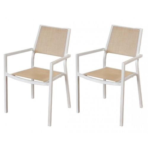 achat fauteuil beige pour le jardin par 2