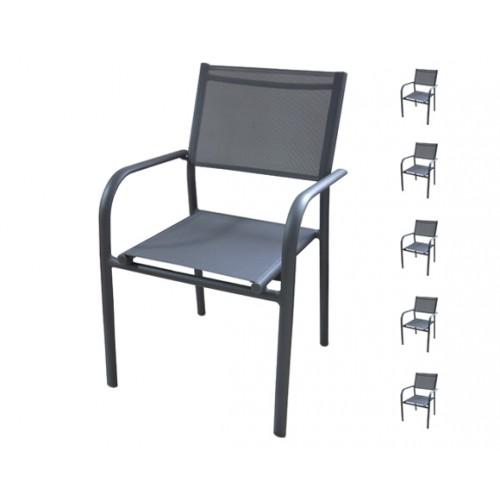 achat fauteuil de jardin-gris