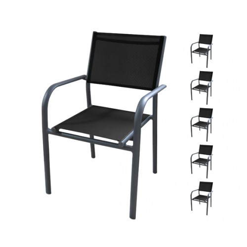 achat fauteuil de jardin noir