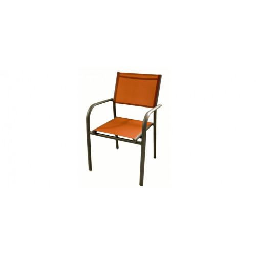 fauteuil de jardin cancun orange lot de 6