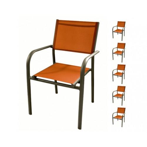 achat fauteuil de jardin orange