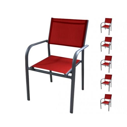 achat fauteuil de jardin rouge