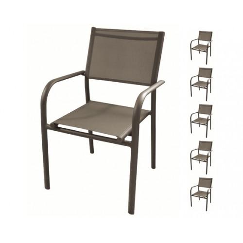 achat fauteuil de jardin taupe