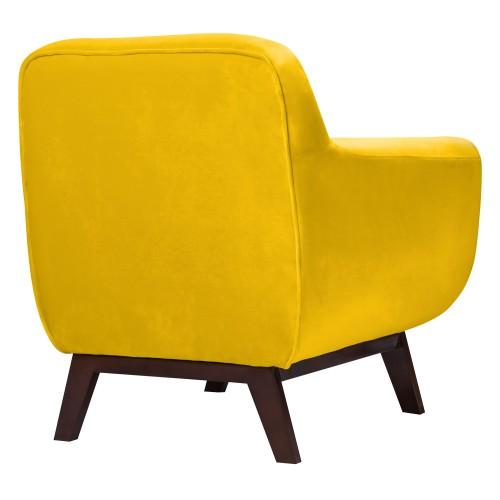 Fauteuil Copenhague en velours jaune découvrez les fauteuils