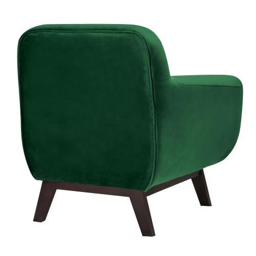 Fauteuil Copenhague en velours vert achetez les fauteuils