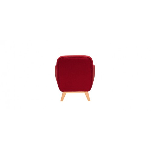 achat fauteuil rouge tissu
