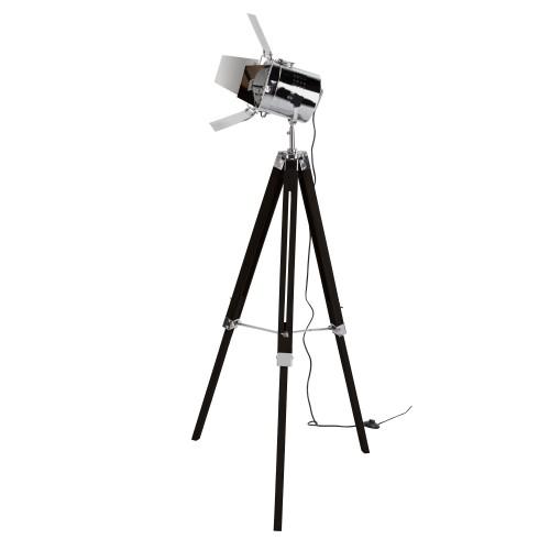 acheter un lampadaire trepied projecteur metal noir pas cher