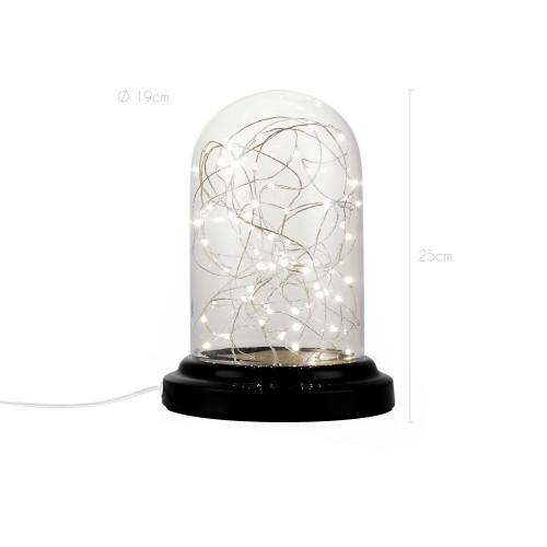 achat lampe cloche guirlade noire