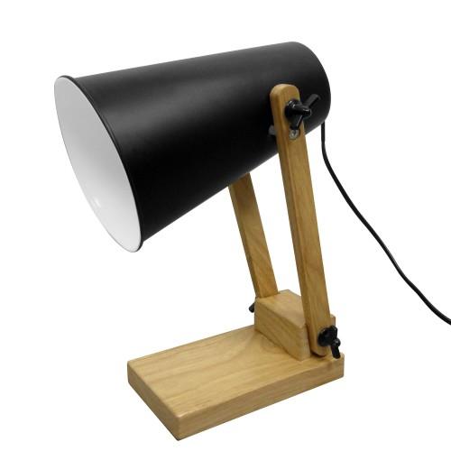 achat lampe de bureau noire mat
