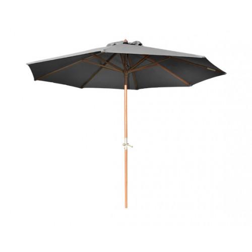 Parasol droit en bois Biarritz gris