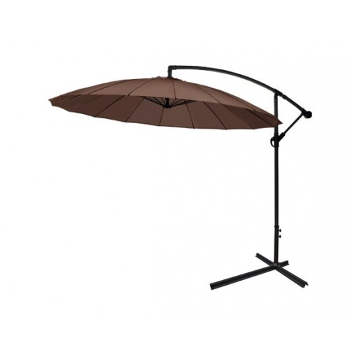 achat parasol pagode taupe