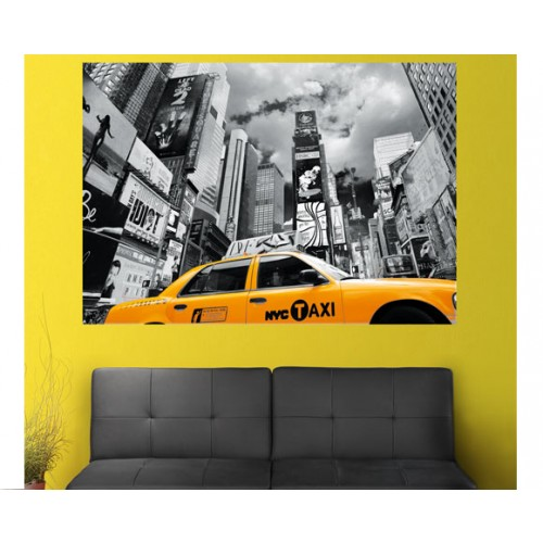 achat poster 200x140 cm taxi new york pas cher