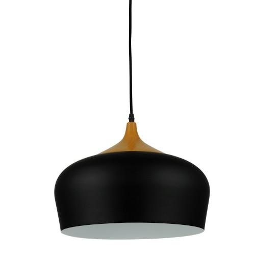 achat suspension design noire metal