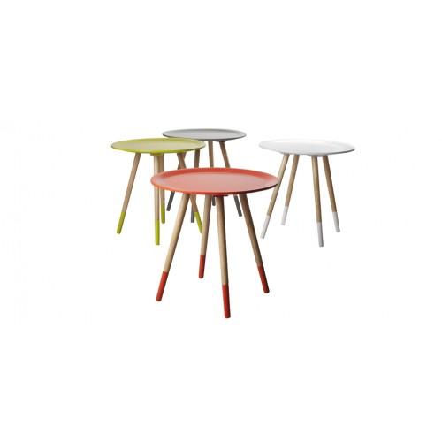 achat table basse art jaune bois