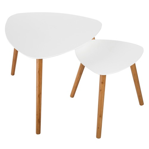 achat table basse blanche scandinave
