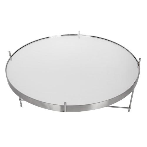 table basse ronde valdo argent m choisissez nos tables. Black Bedroom Furniture Sets. Home Design Ideas