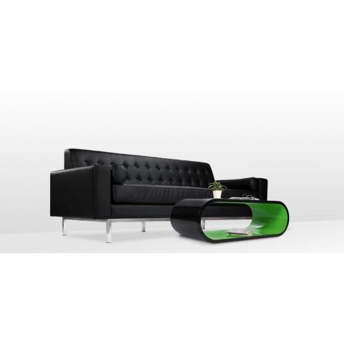 achat table basse verte et noire arrondie