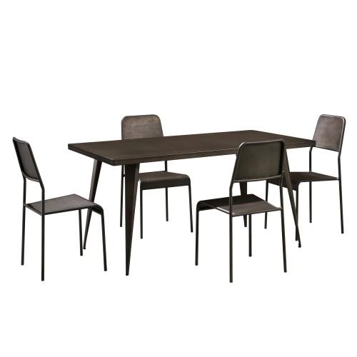achat table industrielle bronze metal