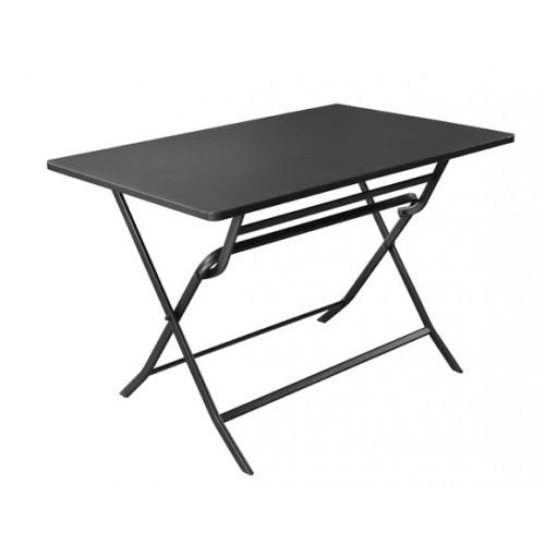 achat table pliante gris fonce