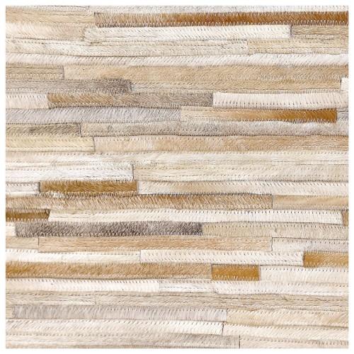 achat tapis cuir beige