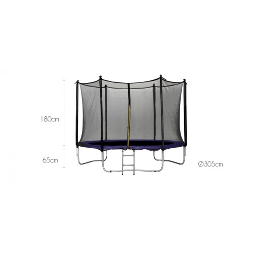 achat trampoline 305 cm violet pas cher
