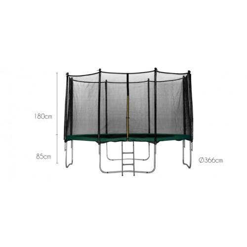 achat trampoline vert 366 cm pas cher