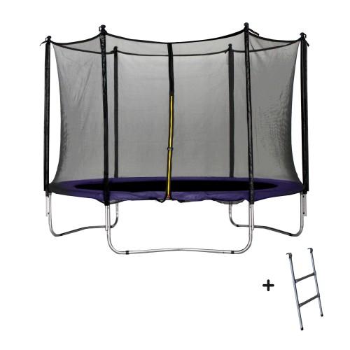 achat trampoline violet 305 cm avec filet echelle