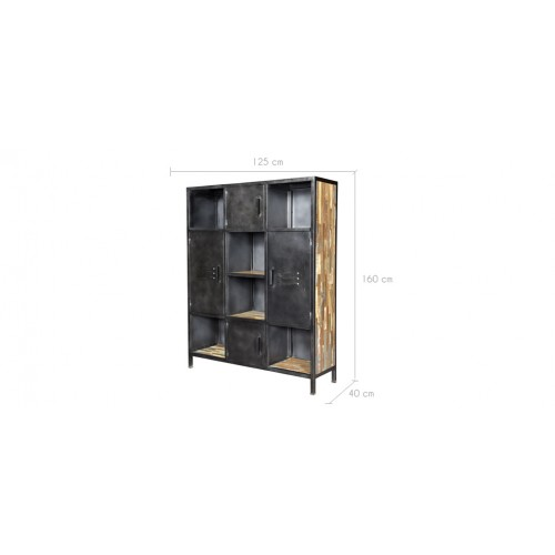 biblioth que arati 6 niches 4 portes achetez les biblioth ques arati 6 niches 4 portes rdv d co. Black Bedroom Furniture Sets. Home Design Ideas