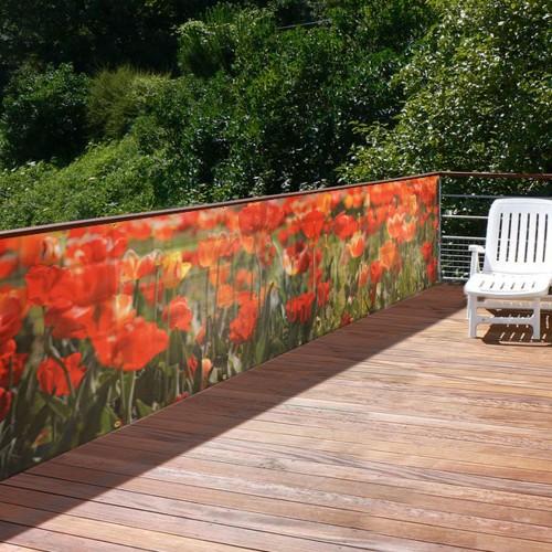 Brise-vue de jardin Coquelicots : choisissez nos brise-vue de jardin ...