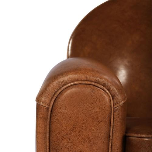 acheter canapé 2 places cuir camel