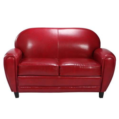 acheter canapé club rouge cuir