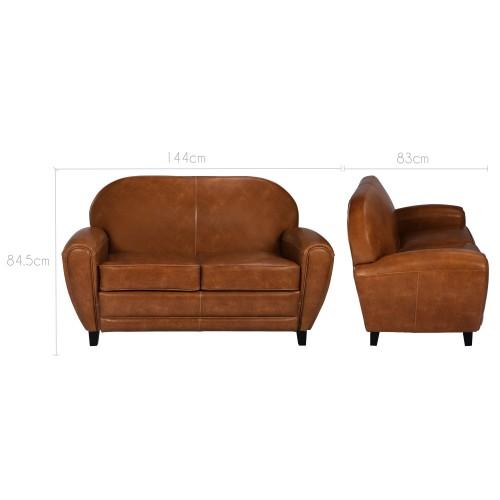 acheter canapé confortable cuir camel