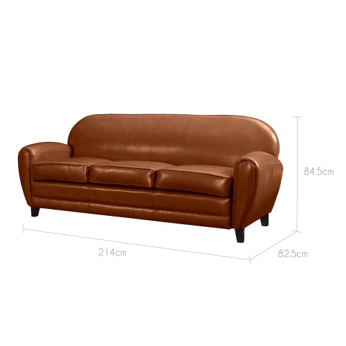 acheter canapé cuir design marron