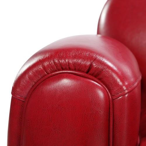 acheter canapé cuir rouge 2 places
