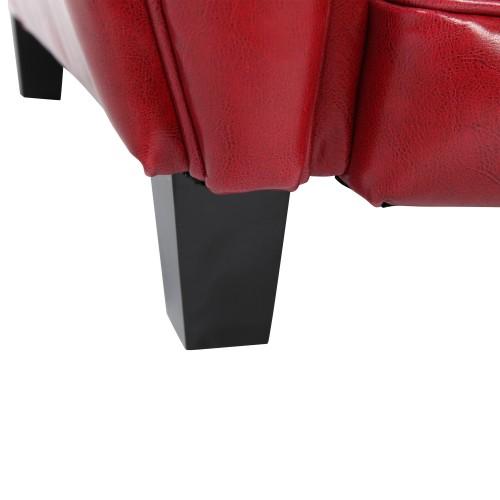 acheter canapé design club cuir rouge
