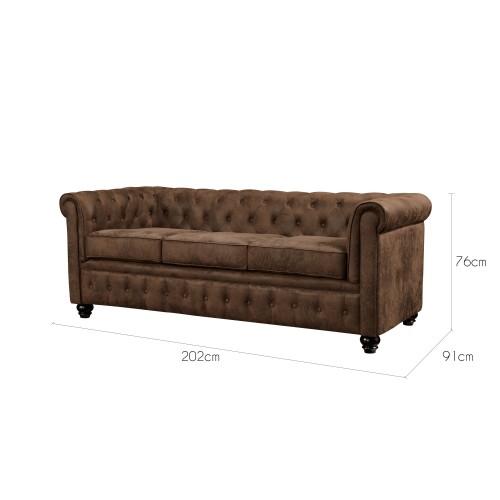 acheter canapé design marron