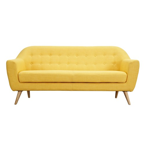 acheter canapé jaune tissu design