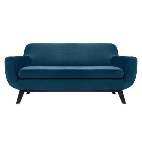 acheter canapé velours bleu design