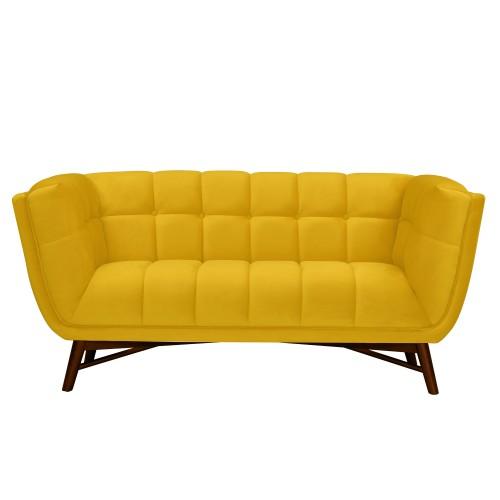 acheter canape 2 places jaune velours