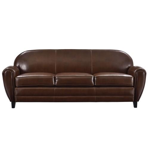 acheter canape 3 places cuir marron