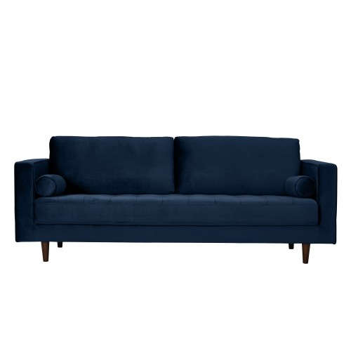 acheter canape bleu fonce velours