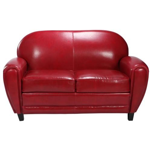 acheter canape club cuir rouge