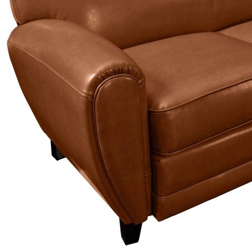 acheter canape confortable cuir marron