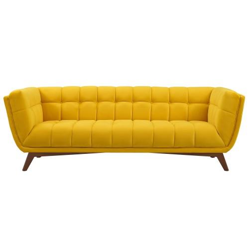 Canapé Mona 3 places en velours jaune