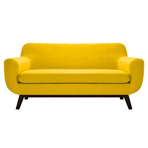 acheter canapé jaune velours design