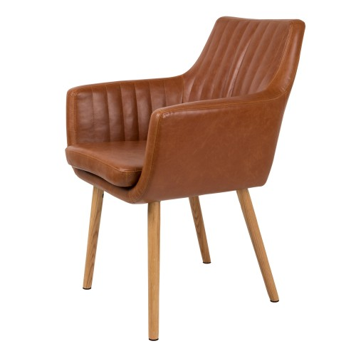 Chaise Pike cognac